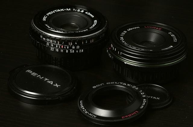 SMC Pentax-M 1:2.8 40mm, SMC pentax-DA 1:2.8 40mm
